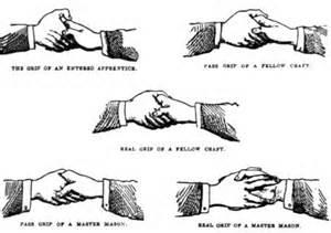 diagram of freemason handshake