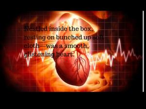 Nestled inside the box, resting on